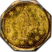USA ¼ Dollar Liberty (Round) 1870 KM# 1.9 coin obverse