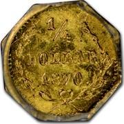USA ¼ Dollar Liberty (Round) 1870 KM# 1.9 ¼ DOLLAR 1870 coin reverse