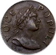 USA Farthing 1760 Large letters KM# Tn21.1 Hibernia Voce Populi VOCE POPULI coin obverse