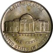 USA Five Cents Monticello 1952 KM# A192 E PLURIBUS UNUM UNITED STATES OF AMERICA FIVE CENTS MONTICELLO coin reverse