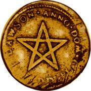 USA Glovcester Token 1714 KM# Tn15 RIGHAVLT DAWSON ANNO DOM 1714 coin obverse