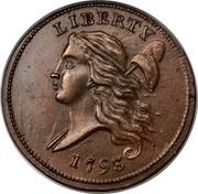 USA Half Cent Liberty Cap 1793 KM# 10 LIBERTY coin obverse