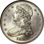 USA Half Dol. Capped Bust Half Dollar 1838 KM# 65 LIBERTY coin obverse