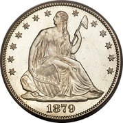 USA Half Dol. Seated Liberty 1879 KM# A99 LIBERTY coin obverse