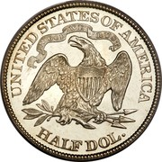 USA Half Dol. Seated Liberty 1879 KM# A99 UNITED STATES OF AMERICA HALF DOL. IN DOG WE TRUST coin reverse