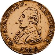 USA Half Dollar 1792 KM# Tn59.1b Washington Pieces G. WASHINGTON. PRESIDENT. I. coin obverse