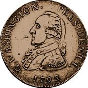 USA Half Dollar 1792 KM# Tn59.2 Washington Pieces G. WASHINGTON. PRESIDENT. I. coin obverse
