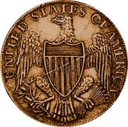USA Half Dollar 1792 KM# Tn59.1b Washington Pieces UNITED STATES OF AMERICA coin reverse