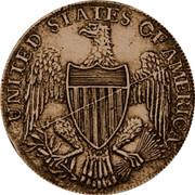 USA Half Dollar 1792 KM# Tn59.1 Washington Pieces UNITED STATES OF AMERICA coin reverse