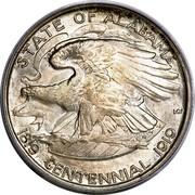 USA Half Dollar Alabama Centennial 1921 KM# 148.2 STATE OF ALASAMA CENTENNIAL 1819 1919 HERE WE REST coin reverse