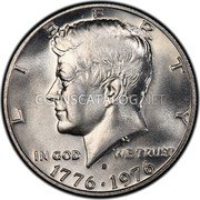 USA Half Dollar Bicentennial 1976 KM# 205a LIBERTY IN GOD WE TRUST 1776 1976 coin obverse