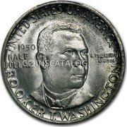 USA Half Dollar Booker T. Washington 1950 S KM# 198 UNITED STATES OF AMERICA HALF DOLLAR E PLURIBUS UNUM BOOKER T. WASHINGTON coin obverse