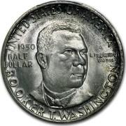 USA Half Dollar Booker T. Washington 1950 S KM# 198 UNITED STATES OF AMERICA HALF DOLLAR E PLURIBUS UNUM BOOKER T. WASHINGTON coin obverse