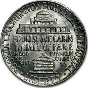 USA Half Dollar Booker T. Washington 1950 S KM# 198 * BOOKER T. WASHINGTON BIRTHPLACE MEMORIAL * LIBERTY * FROM SLAVE CABIN TO HALL OF FAME IN GOD WE TRUST FRANKLIN COUNTRY VA coin reverse