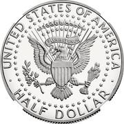 USA Half Dollar Kennedy 2017 S KM# A202c ∙ UNITED STATES OF AMERICA ∙ HALF DOLLAR ∙ E PLURIBUS UNUM coin reverse