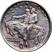 USA Half Dollar Stone Mountain Memorial 1925 KM# 157 IN GOD WE TRUST STONE MOUNTAIN coin obverse