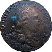 USA Halfpenny 1773 KM# Tn25.4 Virginia Halfpennies GEORGIVS ∙ III ∙ REX ∙ coin obverse