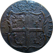 USA Halfpenny 1773 KM# Tn25.4 Virginia Halfpennies NIA VIRGI coin reverse