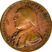 USA Halfpenny 1795 KM# Tn81.1 Washington Pieces GEORGIVS WASHINGTON coin obverse