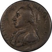 USA Halfpenny 1795 KM# Tn81.2 Washington Pieces GEORGIVS WASHINGTON coin obverse
