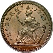 USA Halfpenny Hibernia Harp Right 1723 KM# 26 ∙ HIBERNIA ∙ coin reverse