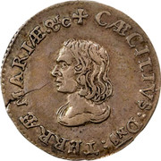 USA IV Pence (Groat) Lord Baltimore (1659) KM# 3 CAECILIVS : Dns : TERRAE - MARIAE ∙ &C coin obverse