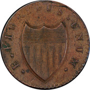 USA Nova Caesarea New Jersey 1788 KM# 16 * E * PLURIBUS * UNUM * coin reverse