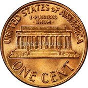 USA One Cent Lincoln 1969S KM# 201 UNITED STATES OF AMERICA E ∙ PLURIBUS ∙ UNUM ∙ ONE CENT coin reverse