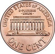 USA One Cent Lincoln 2007 KM# 201b UNITED STATES OF AMERICA ONE CENT E PLURIBUS UNUM coin reverse