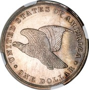 USA One Dollar Gobrecht 1836 KM# 59.2 UNITED STATES OF AMERICA ONE DOLLAR coin reverse