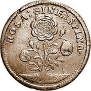 USA Penny Royal Patent 1724 KM# 13 ROSA: SINE: SPINA ∙ coin reverse