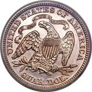 USA Quar. Dol. Seated Liberty 1874 KM# 106 UNITED STATES OF AMERICA QUAR. DOL. IN GOD WE TRUST coin reverse