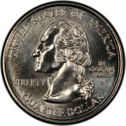 USA Quarter Dollar Maryland 2000 D KM# 306 UNITED STATES OF AMERICA LIBERTY IN GOD WE TRUST QUARTER DOLLAR coin obverse