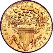 USA Quarter eagle Liberty Cap - Two and half Dollars 1796 stars KM# 27 UNITED STATES OF AMERICA E PLURIBUS UNUM coin reverse