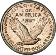 USA Quarter Standing Liberty 1916 KM# 141 UNITED ∙ STATES OF AMERICA QUARTER ∙ DOLLAR E PLURIBUS UNUM coin reverse