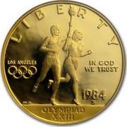 USA Ten Dollars Summer Olympics 1984 S KM# 211 LIBERTY LOS ANGELES IN GOD WE TRUST OLYMPIAD XXIII 1984 W coin obverse