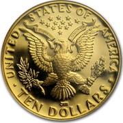 USA Ten Dollars Summer Olympics 1984 S KM# 211 ∙ UNITED STATES OF AMERICA ∙ TEN DOLLARS ∙ E PLURIBUS UNUM coin reverse