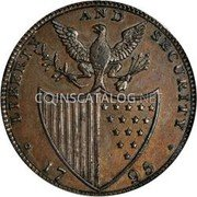 USA Washington Halfpenny 1795 KM# Tn78 Washington Pieces LIBERTY AND SECURITY coin reverse