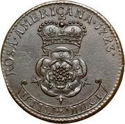 USA 2 Pence Rosa Americana 1723 KM# 11 ROSA ∙ AMERICANA ∙ UTILE ∙ DULCI coin reverse