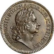 USA 2 Pence Royal Patent 1722 KM# 8.1 GEORGIUS ∙ D : G: ∙ MAG : BRI: FRA : ET ∙ HIB : REX coin obverse