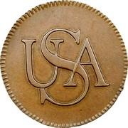 USA Cent 1785 KM# Tn49 Bar Cents USA coin obverse