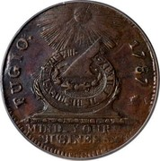 USA Cent 1787 KM# EA32.2 Fugio Cents FUGIO. MIND_YOUR_BUSINESS. coin obverse