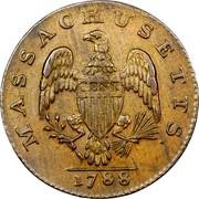 USA Cent 1788 KM# 20.4 Massachusetts Coppers (official) MASSACHUSETTS. CENT coin reverse