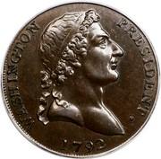 USA Cent 1792 KM# Tn65 Washington Pieces WASHINGTON PRESIDENT. coin obverse