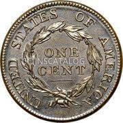 USA Cent Classic Head Cent 1812 large date KM# 39 UNITED STATES OF AMERICA ONE CENT coin reverse