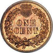 USA Cent Indian Head Cent 1873 closed 3 KM# 90a ONE CENT coin reverse