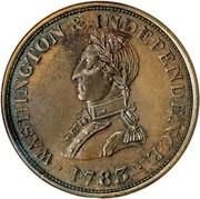 USA Cent Washington 1783 KM# Tn37.1 ∙ WASHINGTON & INDEPENDENCE ∙ coin obverse