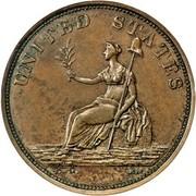 USA Cent Washington 1783 KM# Tn37.1 UNITED STATES coin reverse