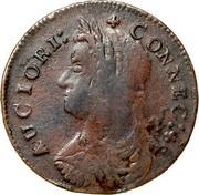 USA Connec 1787 KM# 8.3 Connecticut Coppers AUCIORI: * CONNEC : * coin obverse