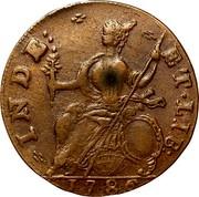 USA Connec Draped Bust 1786 KM# 8.1 INDE: ET ∙ LIB: coin reverse